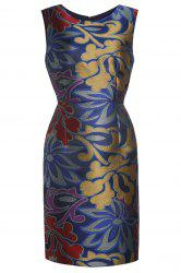 Elegant Flower Print Dress -
