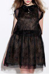 Sheer Mesh Dress and Lace Dress Twinset -