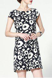 Straight Geometric Print Dress -