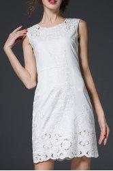 Embroidered Mini Sundress -