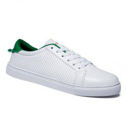 Stylish Colour Matching and Lace-Up Design Casual Shoes For Men -