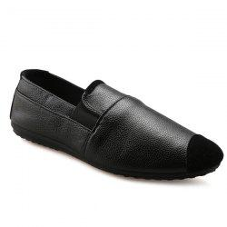 Leisure Black and Elastic Design Loafers For Men -