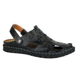 Casual Solid Colour and Stitching Design Sandals For Men -