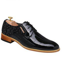 Stylish Splicing and Black Color Design Formal Shoes For Women -