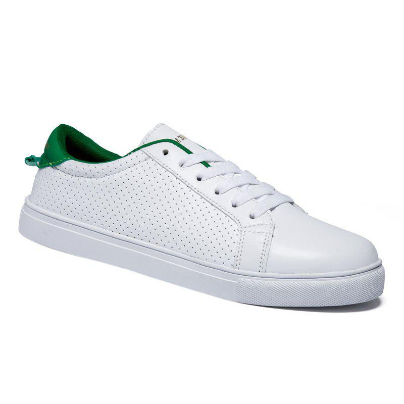 Chic Stylish Colour Matching and Lace-Up Design Casual Shoes For Men