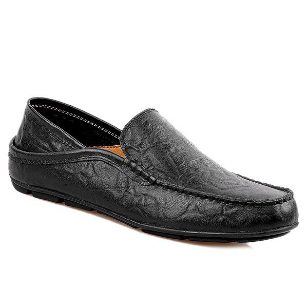 Hot Leisure Stitching and Round Toe Design Loafers For Men