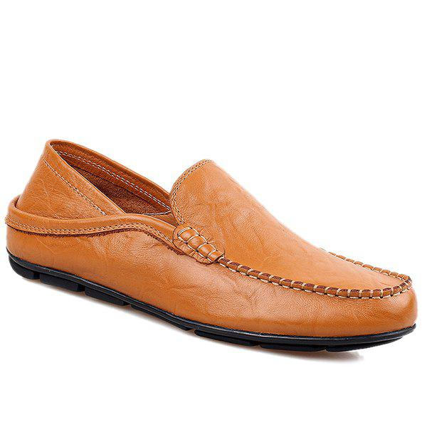Loisirs Couture et Round Mocassins Toe Design For Men