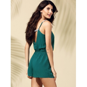 Casual Backless Laciness Romper For Women -