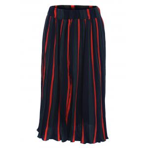 Stylish Women's Hit Color Pleated Skirt -