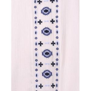 Stylish Strappy Embroidered Racerback Dress For Women -
