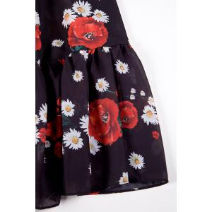 Floral Print Belted Maxi Dress -