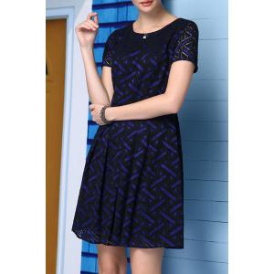 A-Line Printed Lace Dress -