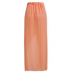 Trendy High-Waisted Asymmetrical Solid Color Chiffon Women's Skirt -