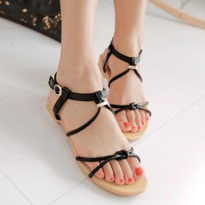 Leisure Solid Colour and Flat Heel Design Sandals For Women -