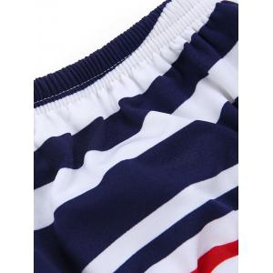 Strapless Striped Dress with Pockets -