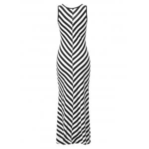 Trendy Scoop Neck Sleeveless Striped Skinny Women's Dress -