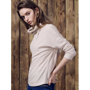 Pure Color Women's Long Sleeve Turtleneck Pullover Sweater -