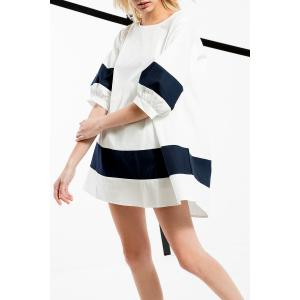 Lantern Sleeve Mini Dress -
