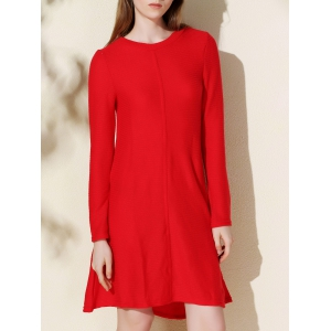 Casual Long Sleeve Jersey Swing Dress