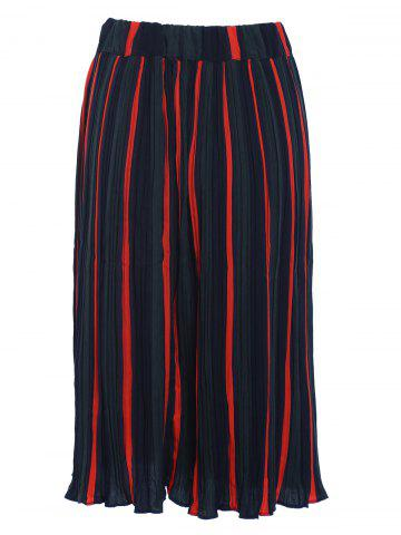 Outfit Stylish Women's Hit Color Pleated Skirt