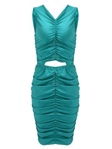 Discount Ruched Sleeveless Night Out Bodycon Dress