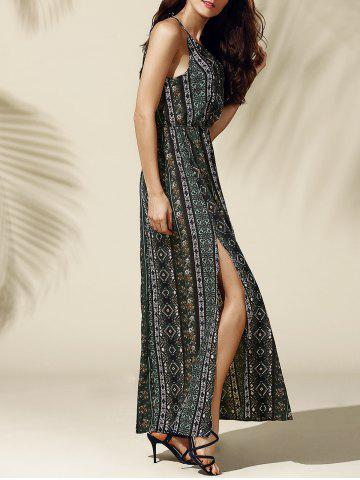 Chic Bohemian High Slit Maxi Dress
