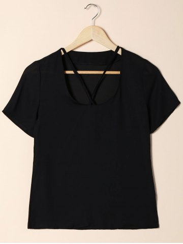 Trendy Short Sleeve Cut Out T-Shirt