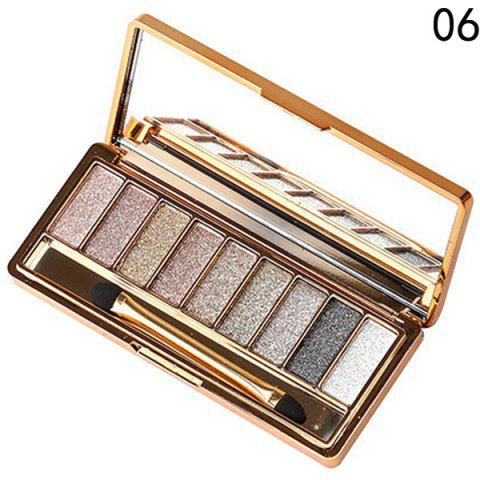 Affordable Stylish 9 Colours Shimmery Diamond Eye Shadow Palette with Mirror and Brush
