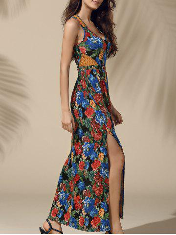 Online Attractive High Slit Floral Print Maxi Dress For Women