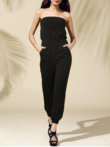 Strapless Pocket Design Jumpsuit