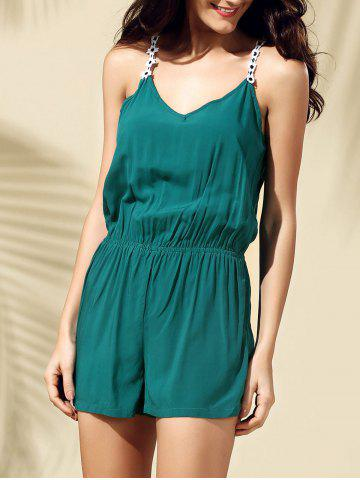Store Casual Backless Laciness Romper For Women