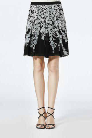 Discount Mid-Waist Printed Skirt