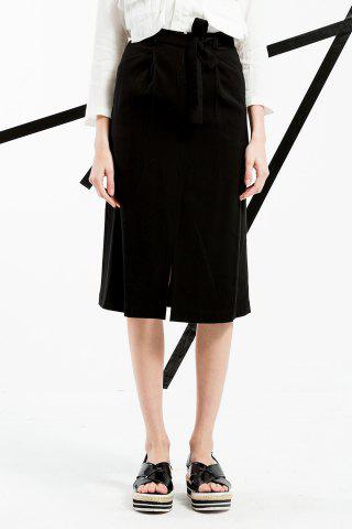 Shops High Waist Slit Skirt