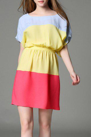 Buy Batwing Sleeve Wide Stripe Dress