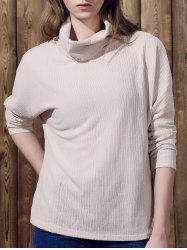 Pure Color Women's Long Sleeve Turtleneck Pullover Sweater