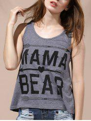 Casual Letter Print Scoop Neck Women's Tank Top -