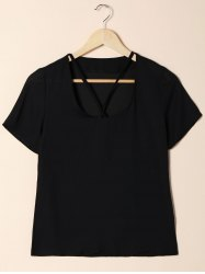 Short Sleeve Cut Out T-Shirt -