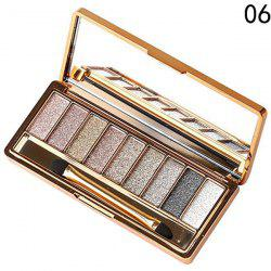 Stylish 9 Colours Shimmery Diamond Eye Shadow Palette with Mirror and Brush -
