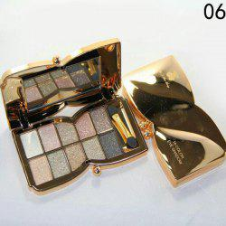 Stylish 10 Colours Sparkly Diamond Eye Shadow Palette with Mirror and Brush -