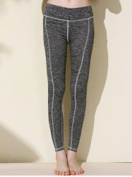 Active Elastic Waist Slimming Spliced Women's Ninth Pants -