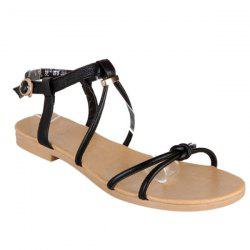 Leisure Solid Colour and Flat Heel Design Sandals For Women