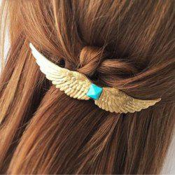 Chic Faux Gem Wing Hairpin For Women - GOLDEN