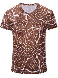 Casual Geometric Figure Printed Short Sleeves T-Shirt For Men