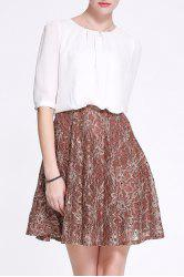 Hit Color Lace Beaded Dress -
