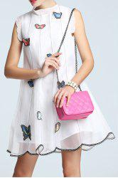 Butterfly Embroidery Sleeveless Organza Dress -