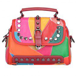 Fashionable Metal and Multicolor Design Shoulder Bag For Women
