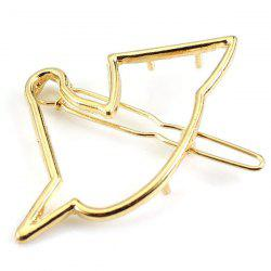 Chic Solid Color Hollow Out Birdie Hairpin For Women - GOLDEN