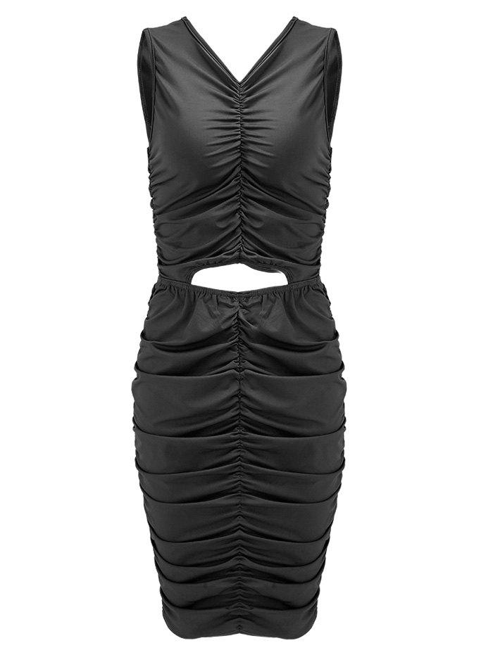 Chic Ruched Sleeveless Night Out Bodycon Dress