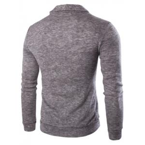 Casual Solid Color Cardigan For Men - LIGHT GRAY 2XL