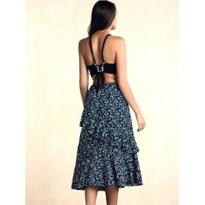 Stylish Elastic Print Skirt For Women -